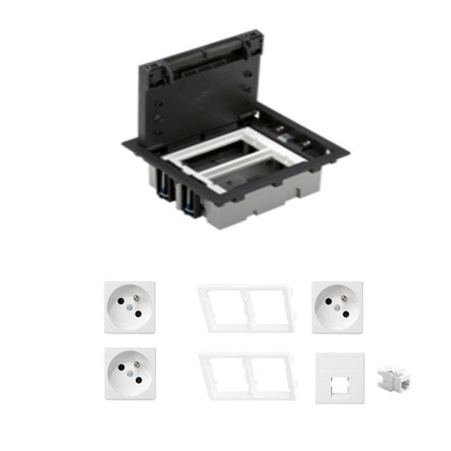 405f44877d4659 KONTAKT SIMON FLOOR BOX puszka podłogowa 3x gniazdo pojedyncze z/u + ...