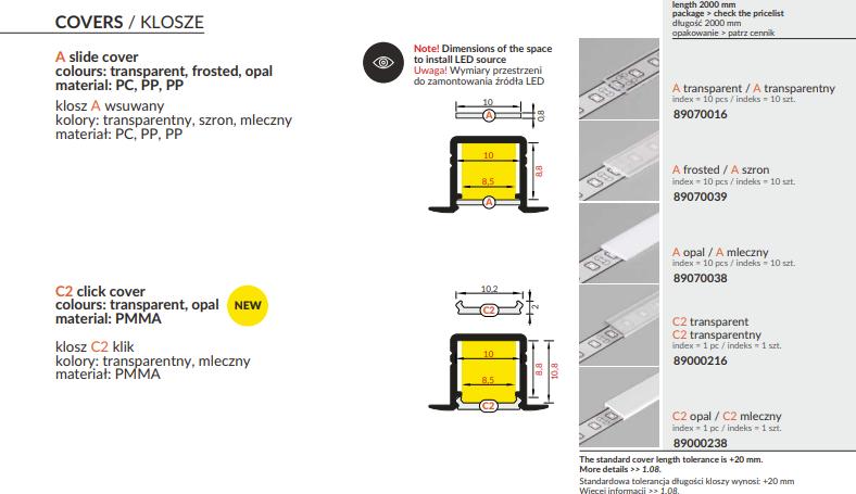 profil led, profil do taśmy led, profil aluminiowy led, profile do led, profile led warszawa, hurtownia led